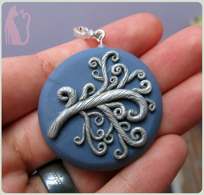 Polymer Clay Old Tree of Life Pendant by Talty