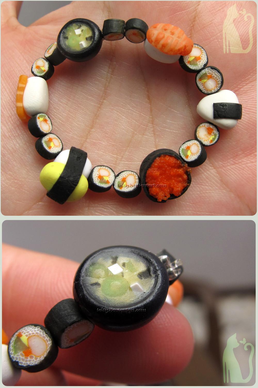 Sushi Bracelet Ebi Miso Onigiri Tamago Maki by Talty