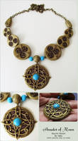 Amulet of Mara Polymer Clay Necklace