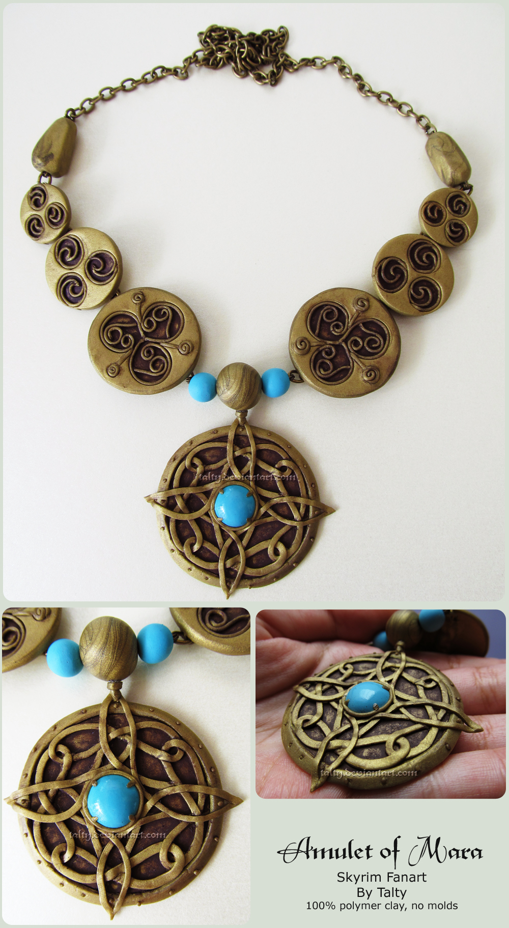 Amulet Jewelry Pendants Sothon: Amulet Of Mara Polymer Clay Necklace By Talty On DeviantArt