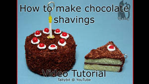 How to Make Polymer Clay Chocolate Shavings Video