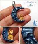 Mondkatze 16: Sam Polymer clay cat
