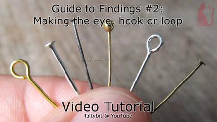 Findings #2: Making the eye, hook or loop on a pin
