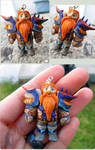 Crafted WoW Dwarf from Polymer Clay