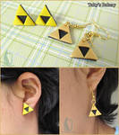 Polymer clay handmade Triforce Earrings