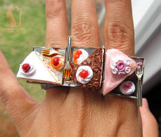 Bakery rings - Polymer clay cakes