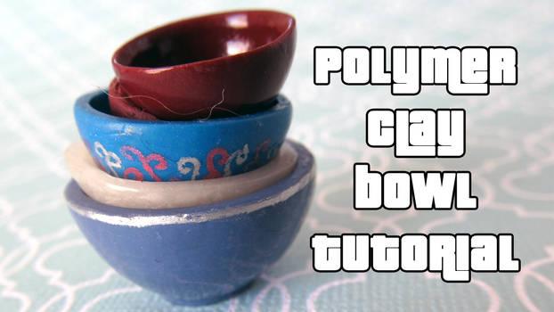 Polymer clay miniature bowl tutorial