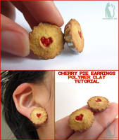 Cherry pie earrings and tutorial