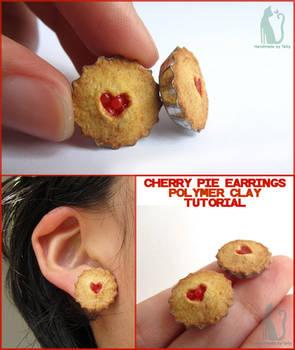 Cherry pie earrings and tutorial