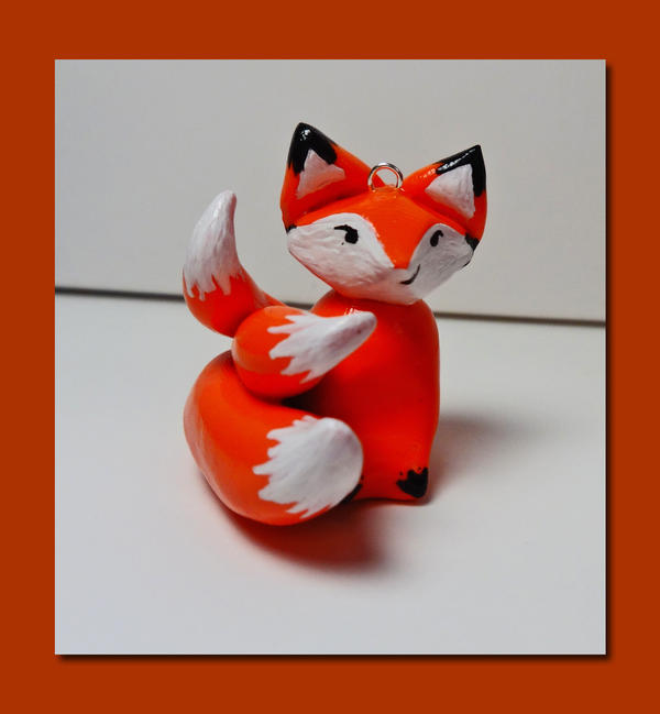 Kitsune Handmade Polymer Clay Pendant