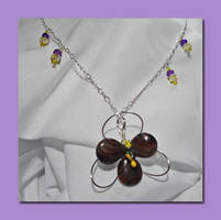 Purple Orchid - Wire Wrapped Necklace