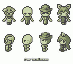 Game boy style characters