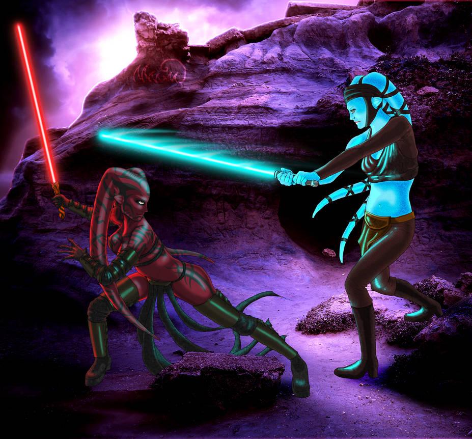 Darth Talon Vs. Aayla Secura By Firefly-Lullaby On DeviantArt