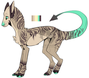 Demon Wolf Adopt  by Zero669
