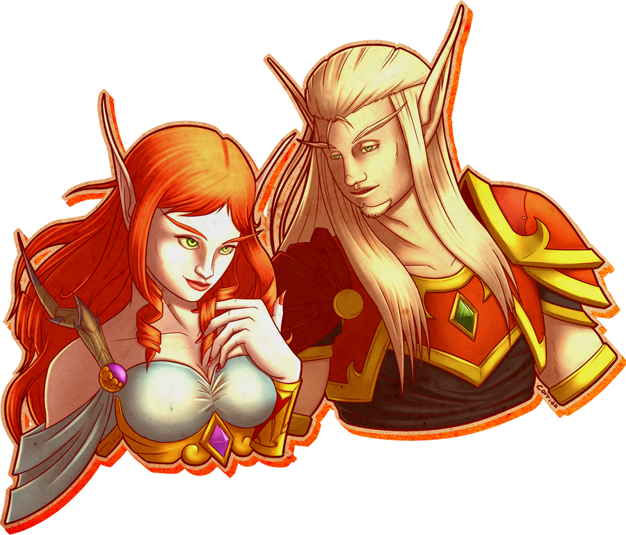 Zal and Mina by Ramavatarama