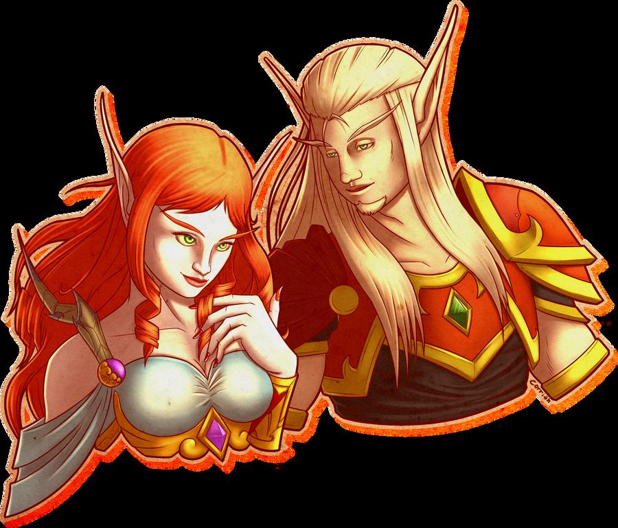 Zal and Mina by Ramavatarama