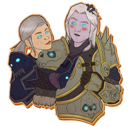 Commission: Bhaal and Arthas Stamp