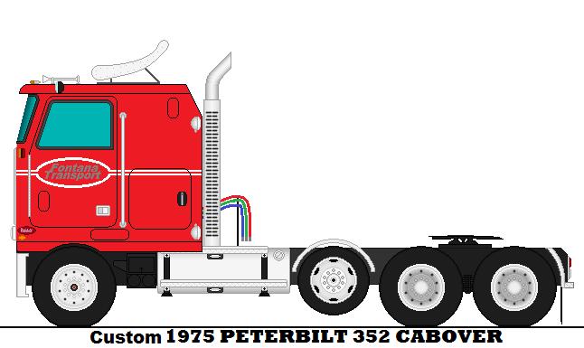 Custom 1975 Peterbilt 352 Cabover by Korwin-Straden on