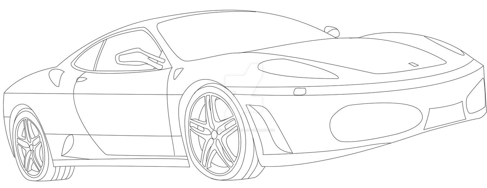 Ferrari F430 Lineart