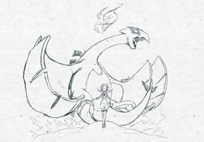 Sketch #004 - Silver Soul by tsunami-dono