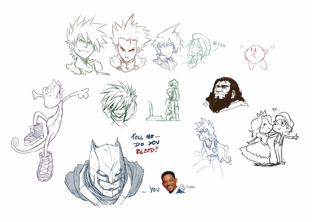 SketchDump #003 by tsunami-dono