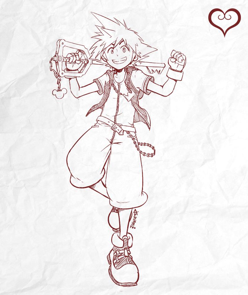 Sketch #006 - Sora by tsunami-dono