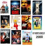 My favorite movies of 2000