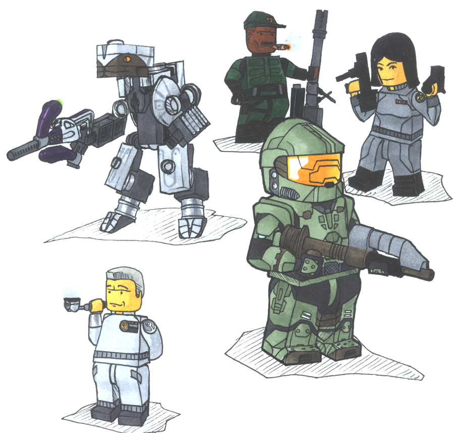 Lego halo by tekka croe on deviantart - Lego spartan halo ...