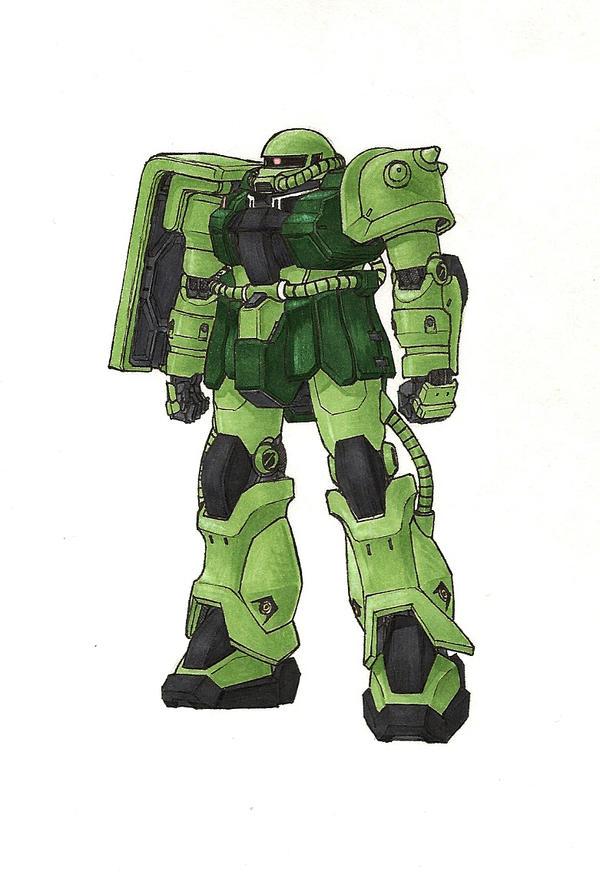 Zaku II- Ver. Te by Tekka-Croe