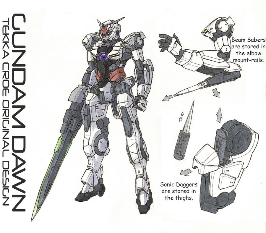 Gundam Dawn reference by Tekka-Croe