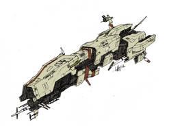 Saldean Frigate by Tekka-Croe
