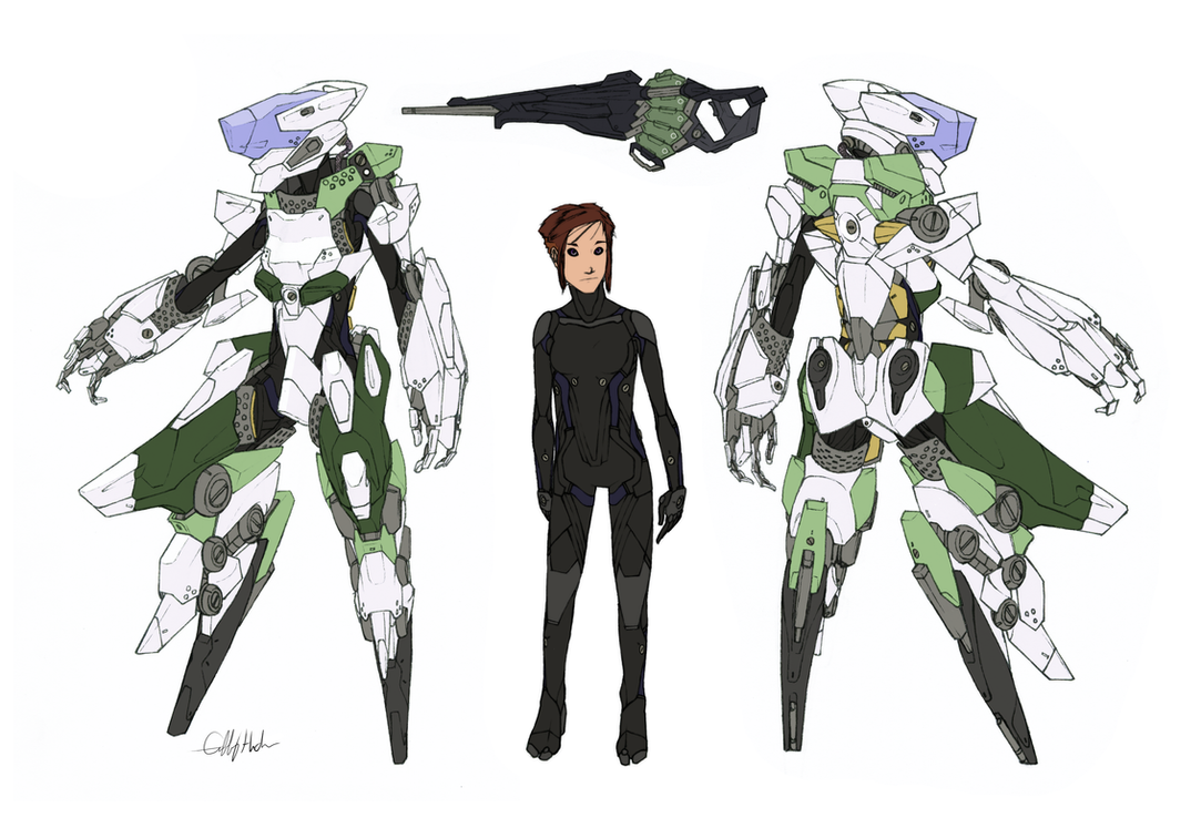 Deus Ex Machina 'Orchid Armor' by Tekka-Croe