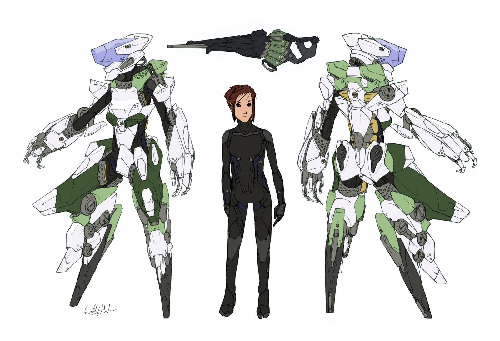 "Deus Ex Machina ""Orchid Armor"" by Tekka-Croe"