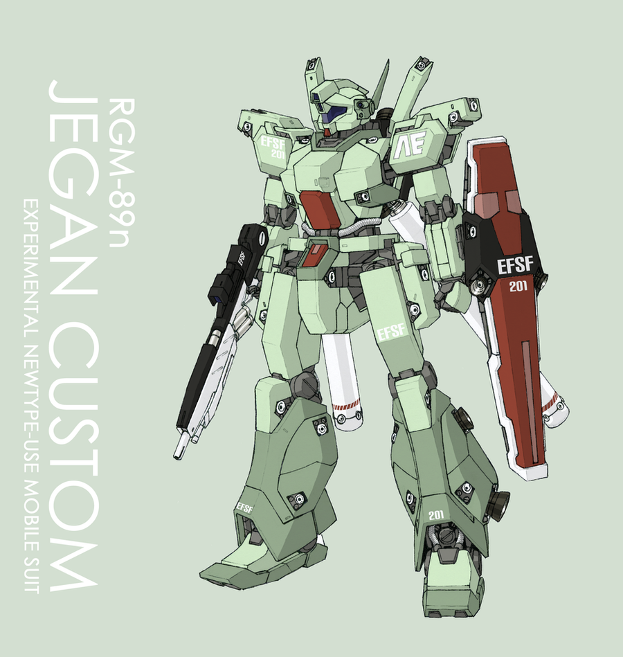 RGM-89n Jegan Custom by Tekka-Croe