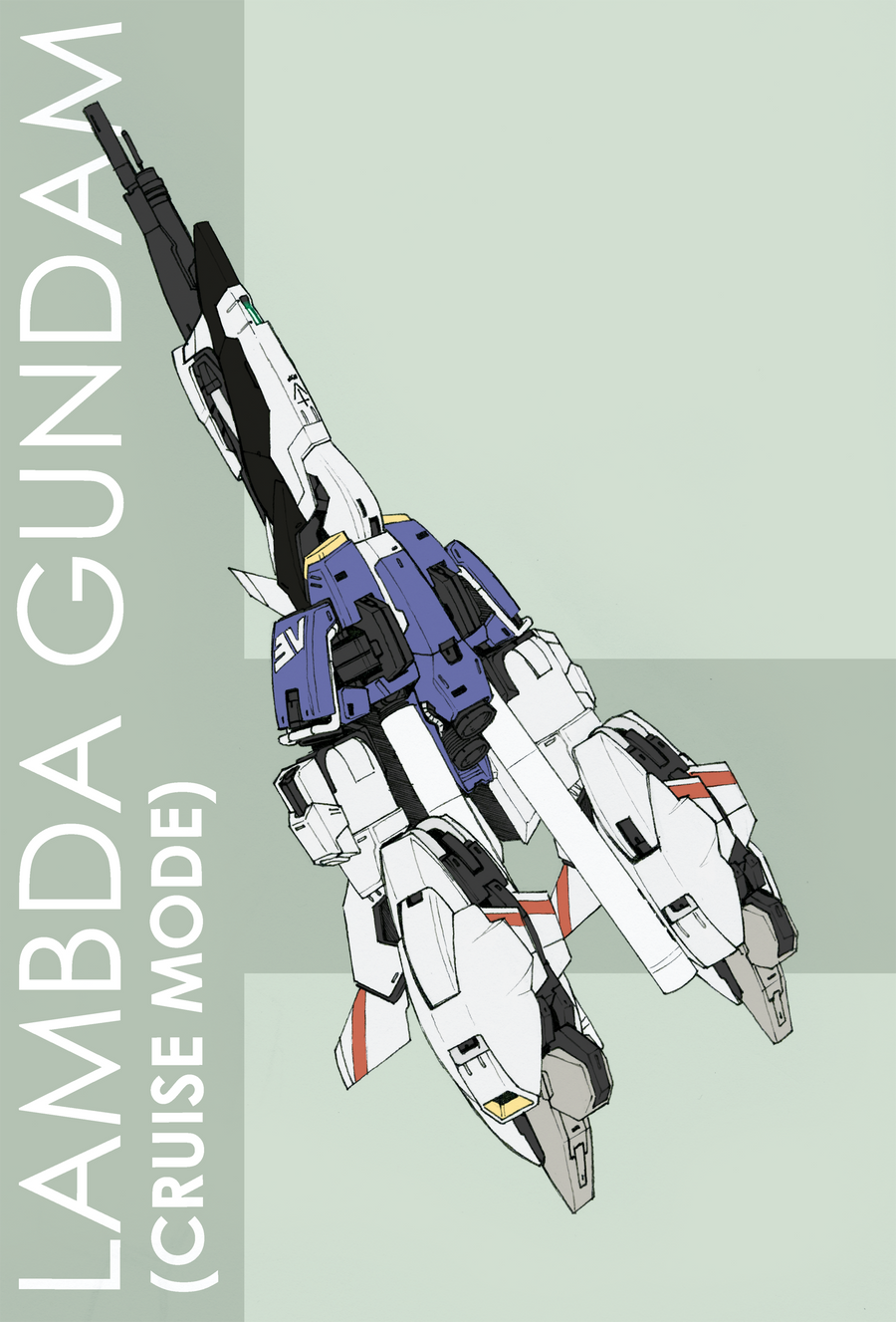 Lambda Gundam - Cruise Mode by Tekka-Croe