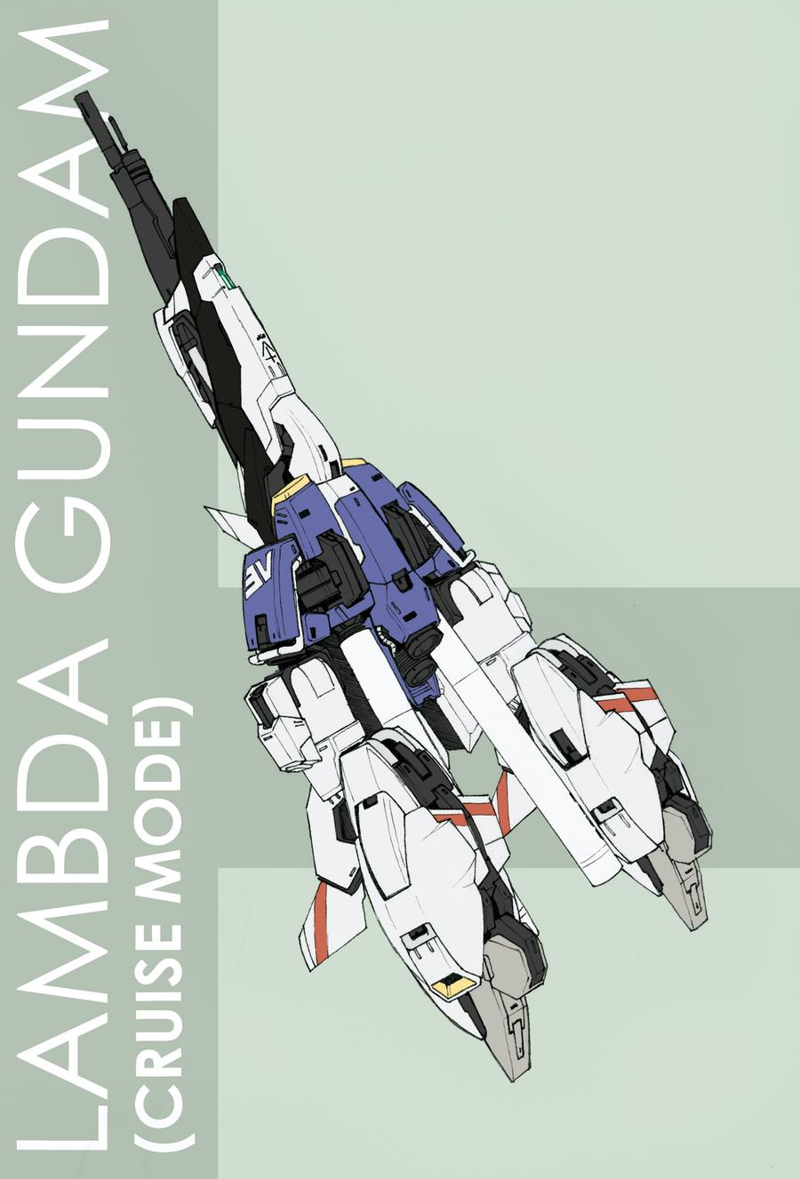 Lambda Gundam - Cruise Mode by Tekka-Croe