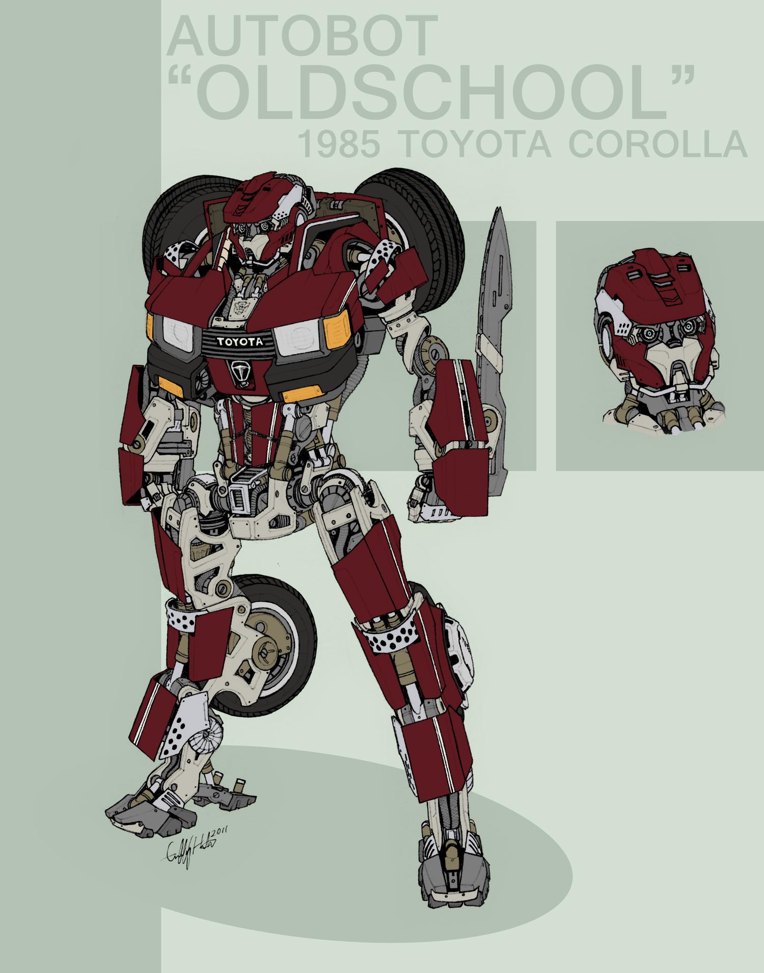 Autobot 'Oldschool' by Tekka-Croe