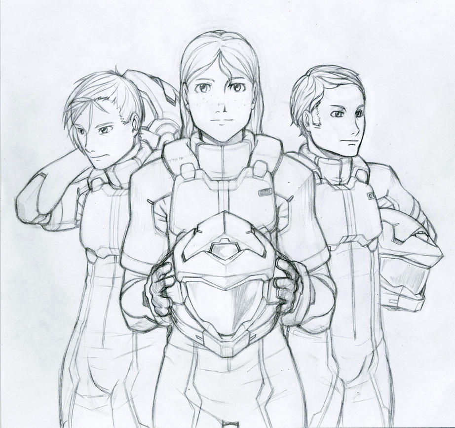 Gundam Dawn Meisters by Tekka-Croe