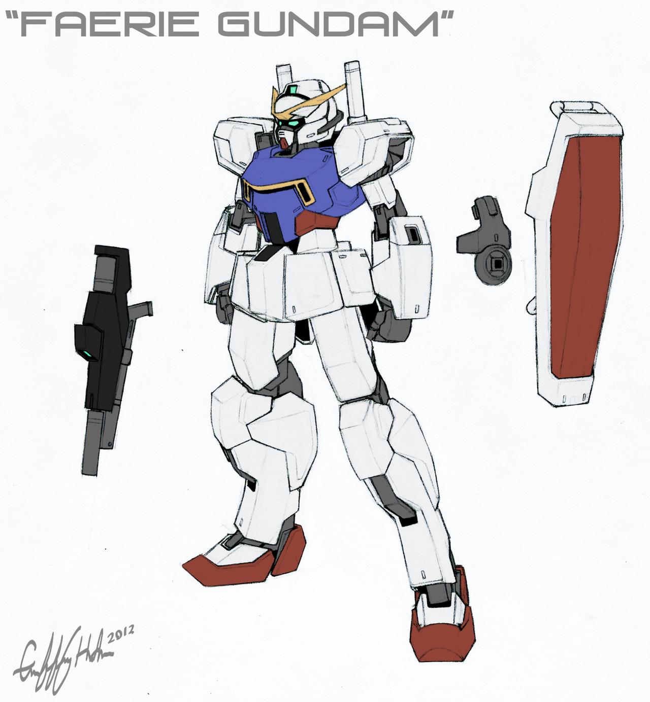 Faerie Gundam by Tekka-Croe