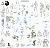 NI Sketchdump 2013 by Tekka-Croe