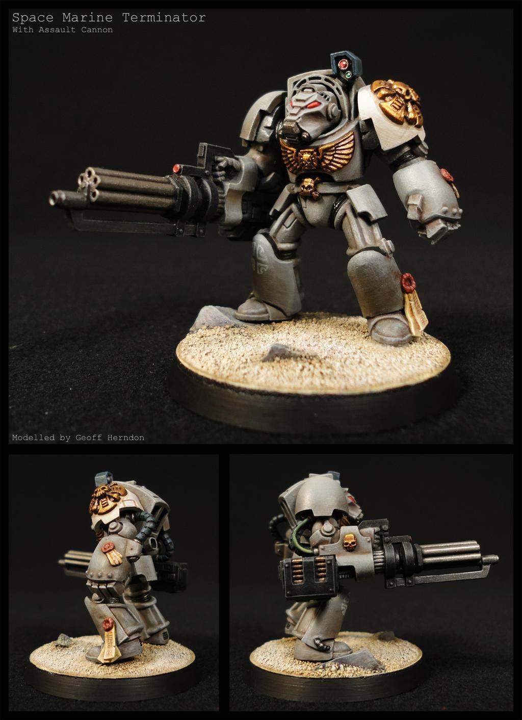 Stonehides Terminator w/ Assault Cannon by Tekka-Croe