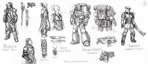 WH40k Character Sketches