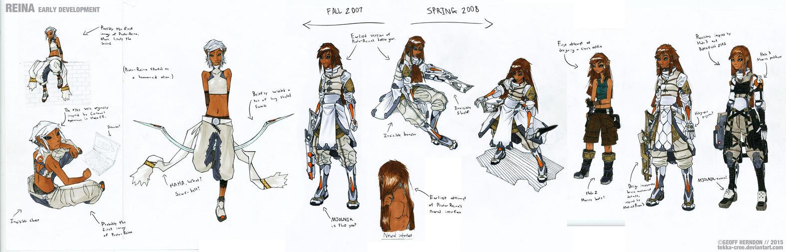 Proto-Reina (Early Development Art) by Tekka-Croe