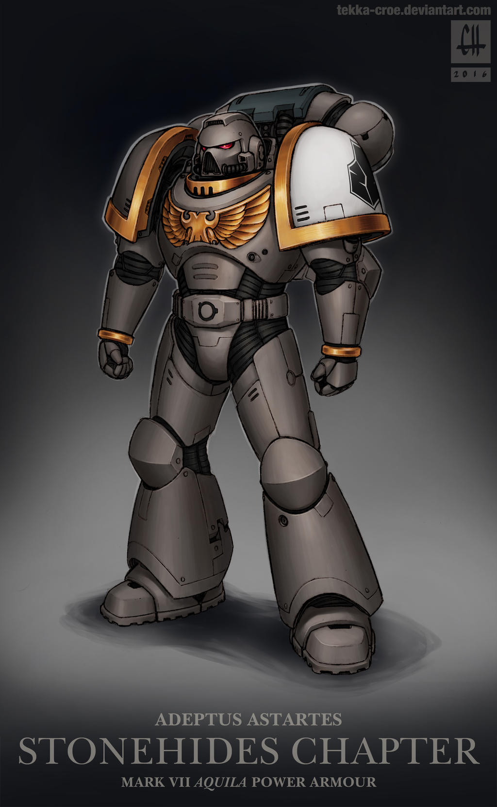 Stonehides Chapter Battle Brother (WH40k)