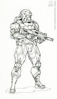 Inktober Day 1 (Karic Infantryman)