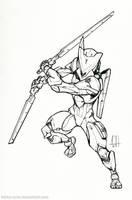 Inktober Day 5 (Gray) by Tekka-Croe