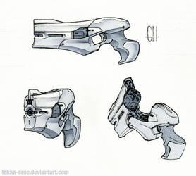 Inktober Day 6 (Trent's Sidearm)