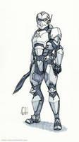 Inktober Day 12 (Captain Bannon)