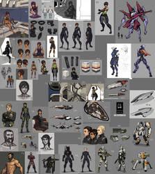 Novus Imperium Sketchdump 2016 by Tekka-Croe