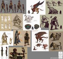 Fantasy Sketchdump (02 04 2017) by Tekka-Croe